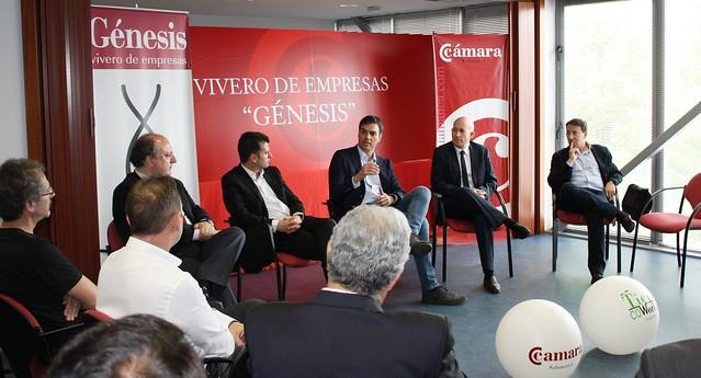 Encuentro de los emprendedores del Vivero de Empresas de la Cámara de Salamanca con Pedro Sánchez