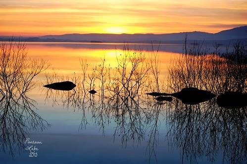 ireland sunset lake reflection water rock fujifilm mayo fujifilmxe1