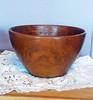 Vintage Hand-Carved Wooden Bowl - Dough Bowl - Salad Bowl