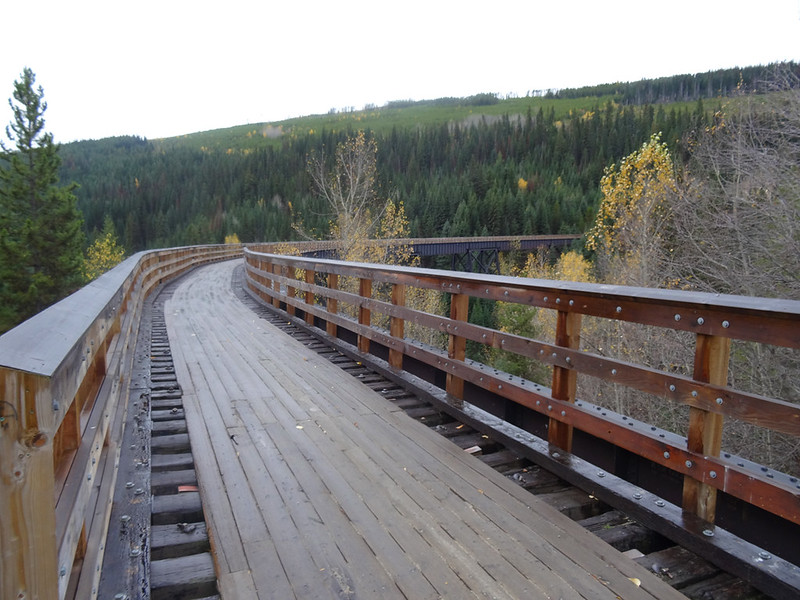 Image of Cycling in the Okanagan - the Kettle Valley Rail trail in October