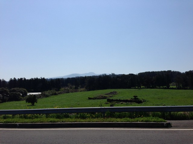 Driving through Jeju
