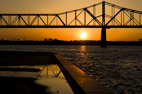 bridge sunset ohio urban orange water monochrome architecture river us unitedstates kentucky louisville waterfrontpark silhoutette
