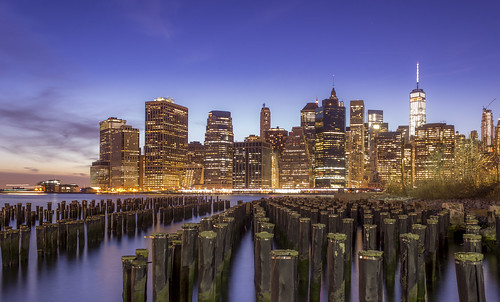 sunset urban newyork brooklyn spring twilight manhattan clear bluehour goldenhour