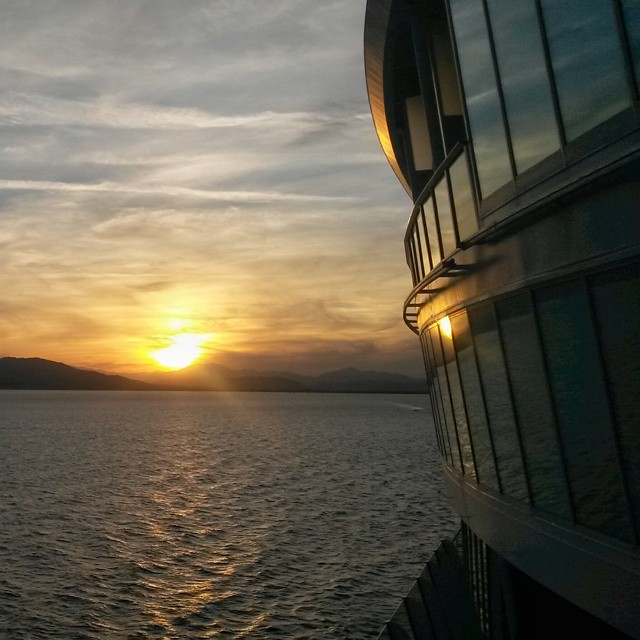 Auringonlasku, Välimeri