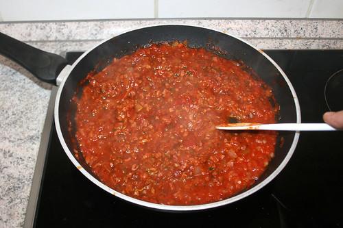 30 - Sauce köcheln lassen / Let sauce simmer