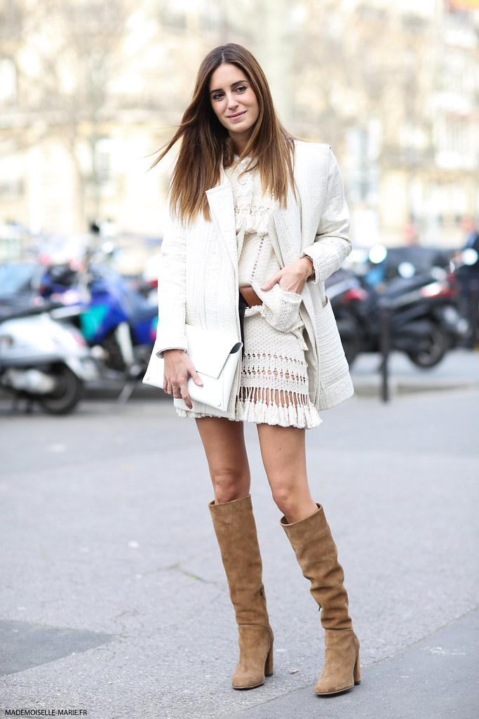 Gala Gonzalez at Paris Fashion week