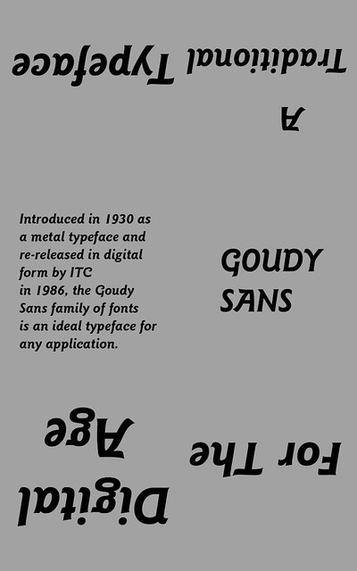 Goudy Font Poster2