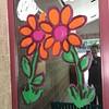 #selfie with flowers. More window art.