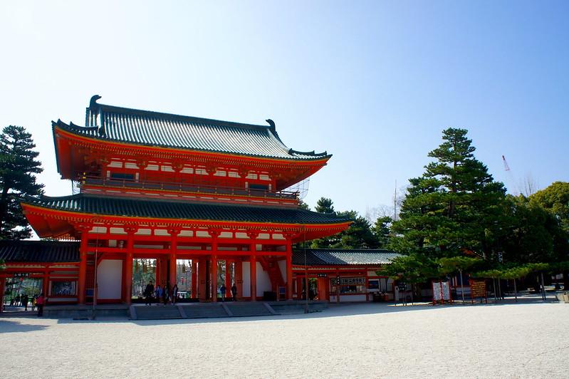 應天門の西側に朱印所/平安神宮(Heian-jingu Shrine / Kyoto City) 2015/03/17
