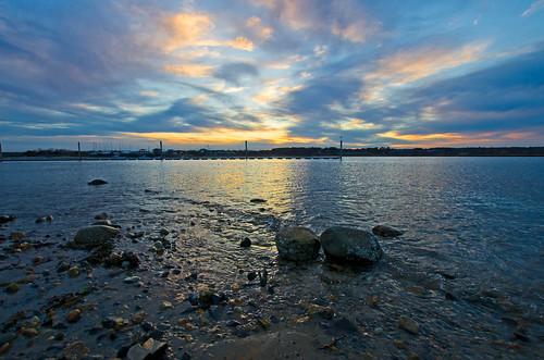 sunset sky maine wells webhannetriver