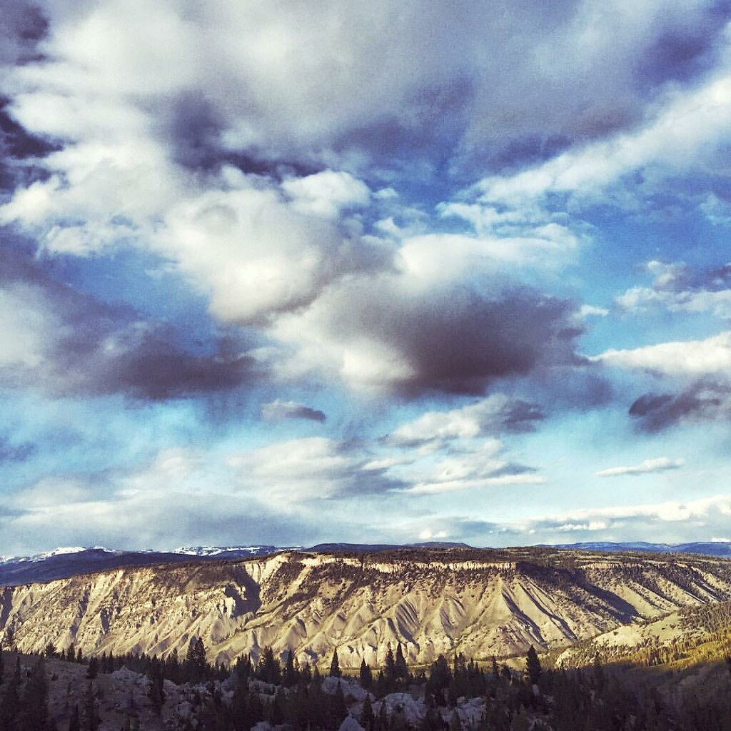 Where earth and sky meet. Hiking the Terrace Mountain Trail in Yellowstone National Park.  #BigSky #ExpandYourHorizons #Yellowstone #shamanism #nature #wonder