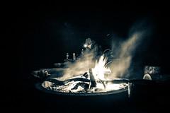 Campfire - split-toned grainy