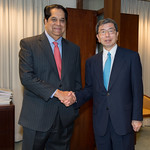 New Development Bank President visits ADB, signs MOU