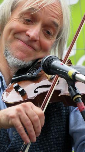 Belfast Food Fair Irish musicians, playing the fiddle