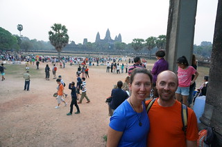 We're up before the sun at Angkor Wat
