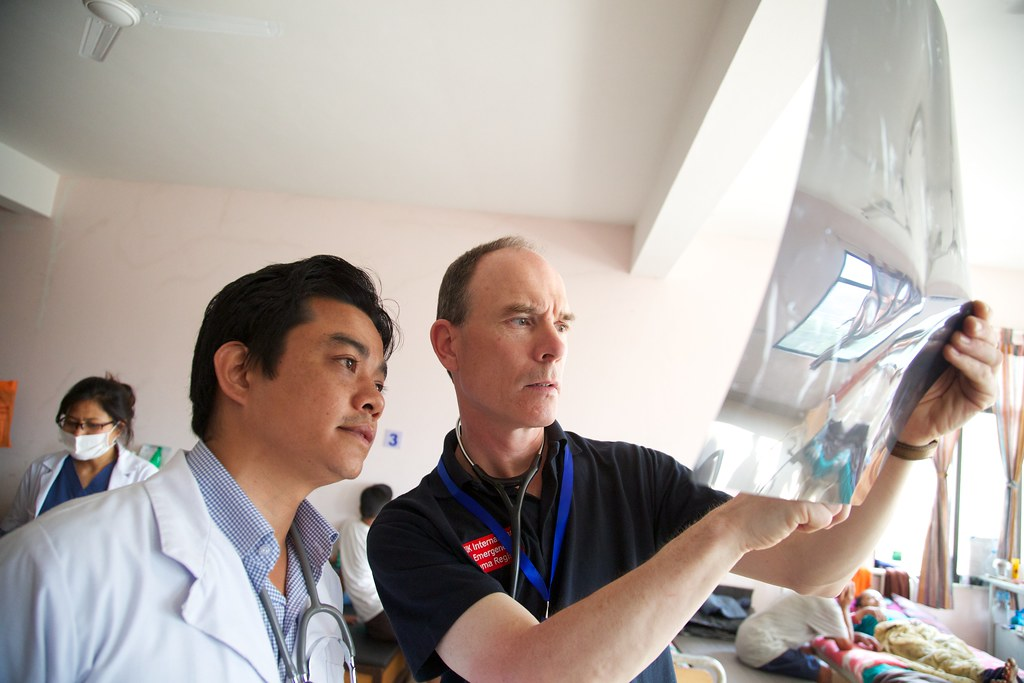 Dr Stephen Reaney, a GP from Northern Ireland, one of the UK's Emergency Medical Team members in Nepal