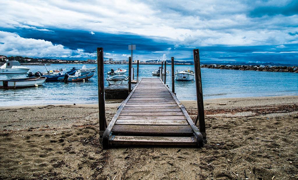 Pier small marina. (Castiglioncello - Tuscany - Italy).