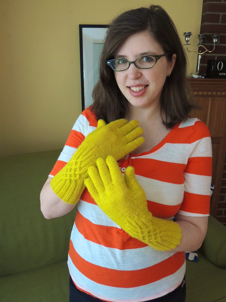 Chartreuse Knotty Gloves