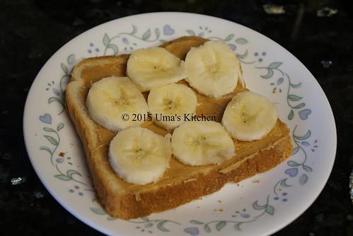 Peanut butter banana sandwich 2