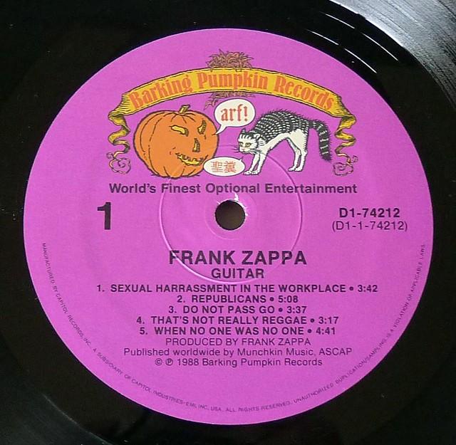 "FRANK ZAPPA GUITAR 12"" 2LP VINYL"
