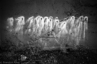 Paint Streaks On Concrete Wall