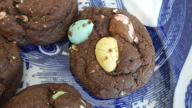 Eggless Chocolate Egg Cookies 1