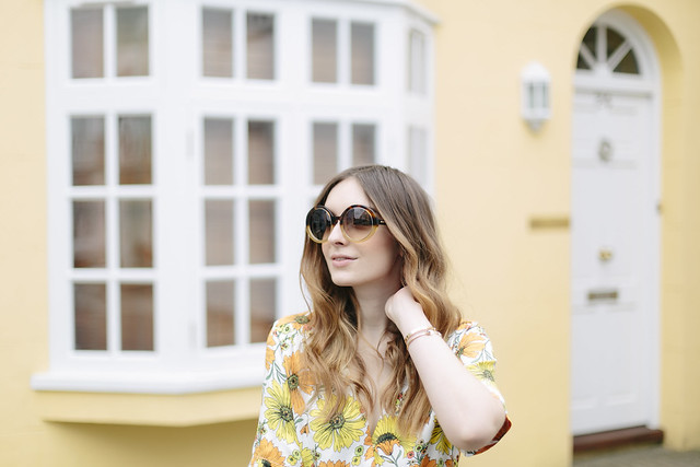 Seventies Floral Topshop Jumpsuit What Olivia Did