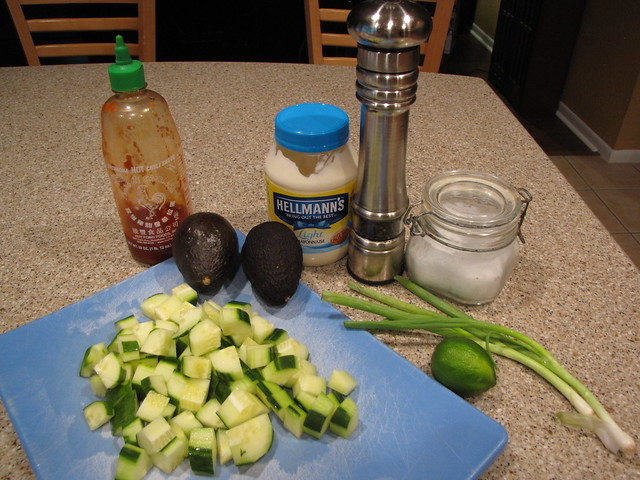 Cucumber & Avocado Salad Ingredients