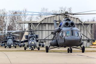 Mi-8MTV-5 and 2 Mi-35M