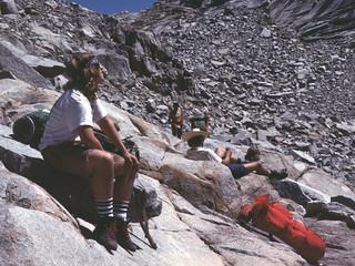 Resting at Precipice Lake