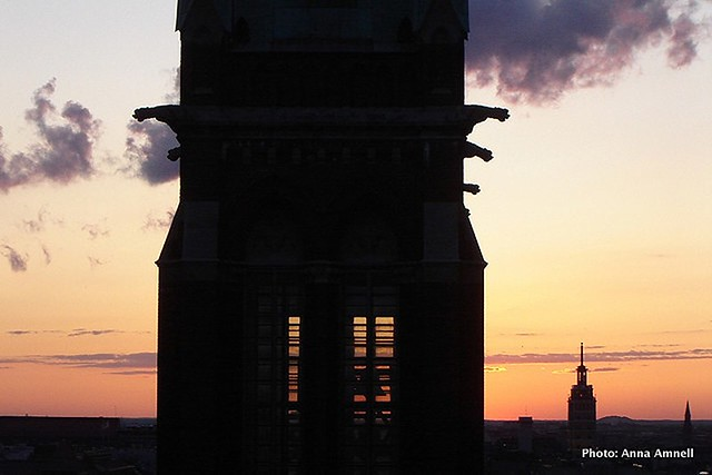 St John's Church and the Hotel Torni (Tower) in Helsinki