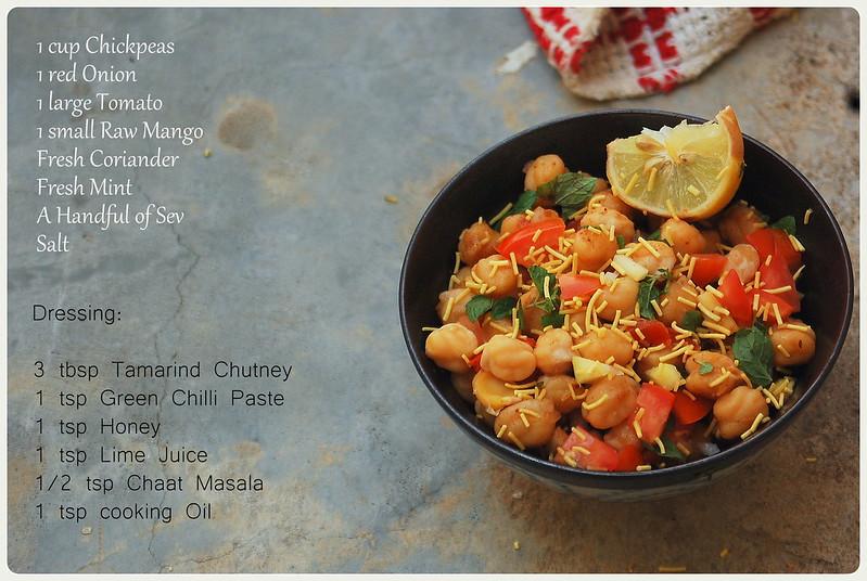 Chickpea & Raw Mango Salad Ingredients