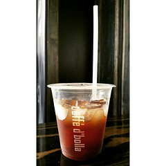 Come sip on this... a refreshing and delicious iced Americano made with Rocket to Jupiter espresso! Mm-mmm. #espresso #americano #caffedbolla #slc #coffee