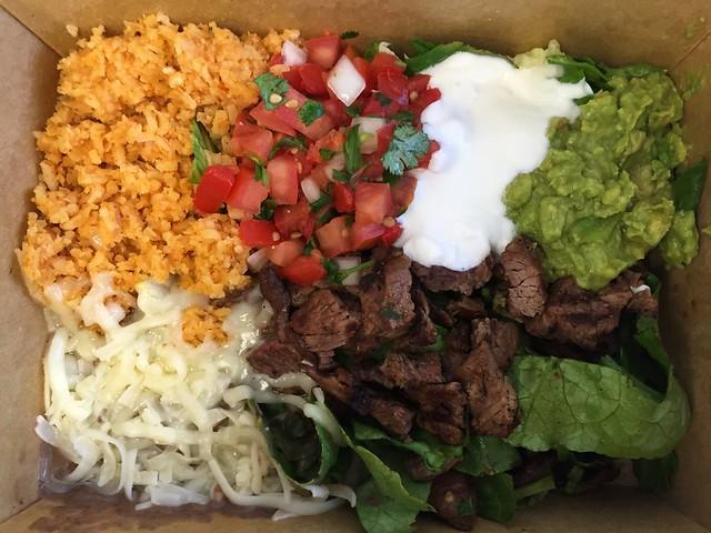 Carne asada naked burrito - Papalote Mexican Grill