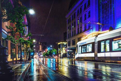 Streetcar in the Rain