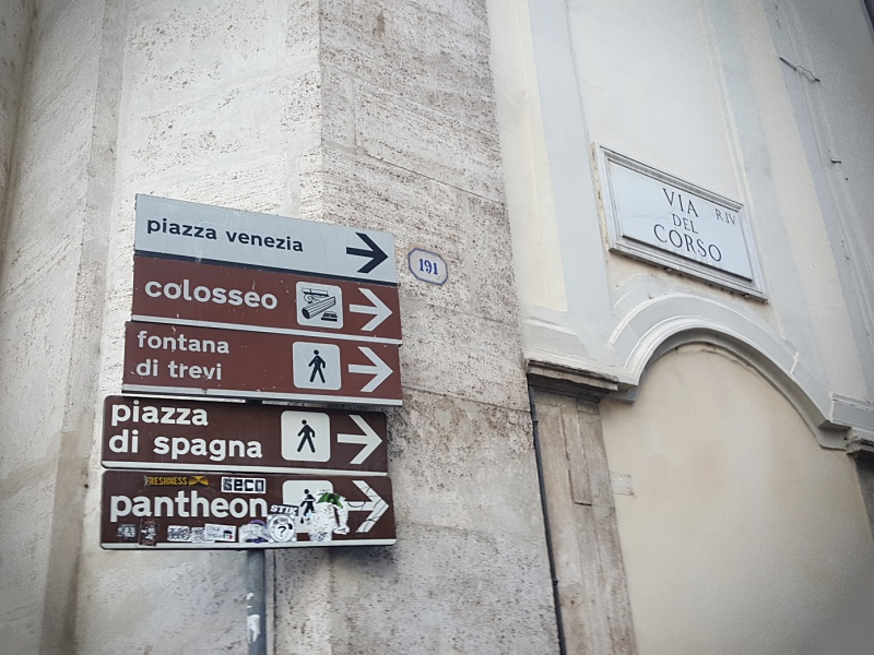 Rome street signs