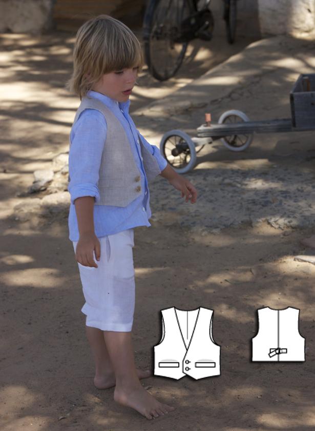 boys vest sewing pattern 143 052010