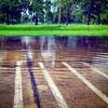 Parking lot flooding, after the rain, across from Fairview Park, Centralia, Ill. #southernil #soill #southernillinois #centraliail #centraliaillinois #weather #storms  #puddle #rain #parkinglot #manhole #flood