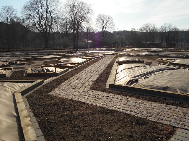 Helsingin Kaisaniemen kasvitieteellisen puutarhan remontti - Tilannetta 19.3.2015 E
