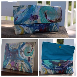 Canvas Painting into a Clutch-easy Peasy 20 minute project