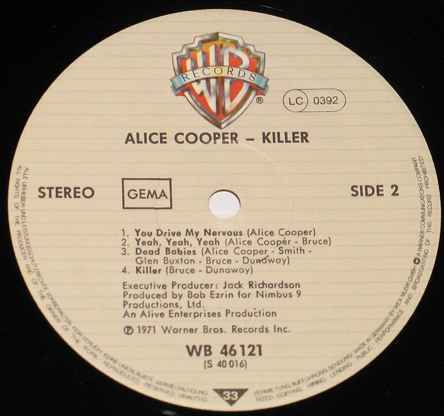"Alice Cooper Killer 12"" Vinyl LP"