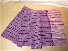Dreams of Amethyst shawl