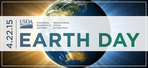 Earth Day graphic. 4/22/2015. Earth Day. USDA, NIFA.