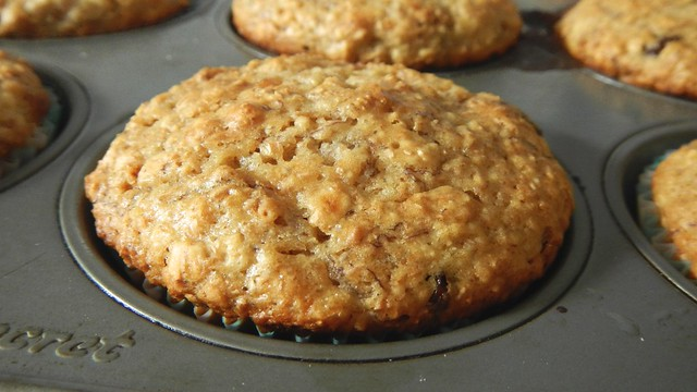 Banana Oat Bran Muffins 12