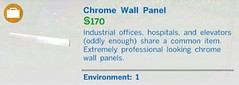 Chrome Wall Panel