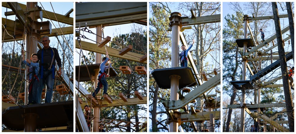 ben on the ropes course