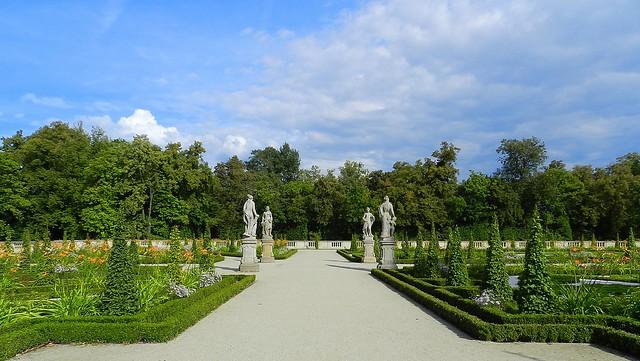 Garden of Wilanów palace. Warsaw. Poland