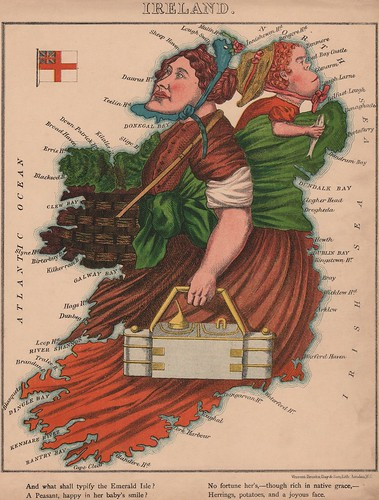 Caricature map of Ireland by Aleph