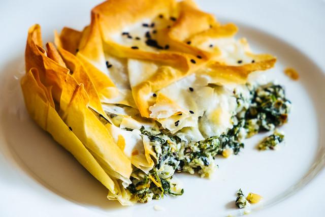 Spanakopita comida grega nos EUA