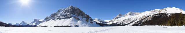 Crowfoot Mountain, Bow Lake